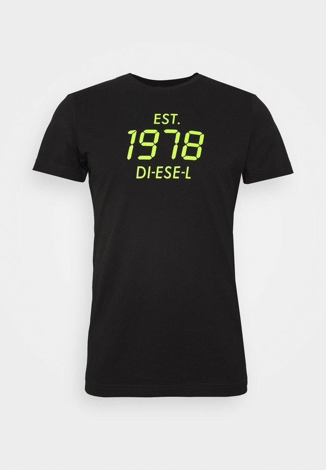 T-DIEGOS - T-shirt con stampa - black