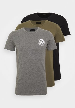 UMTEE-RANDALTHREEPACK  3 PACK - T-shirt imprimé - black/green/grey