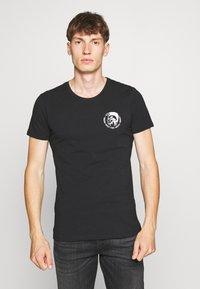 Diesel - UMTEE RANDALTHREEPACK - T-shirts print - black/green/grey - 4