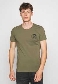 Diesel - UMTEE RANDALTHREEPACK - T-shirts print - black/green/grey - 3