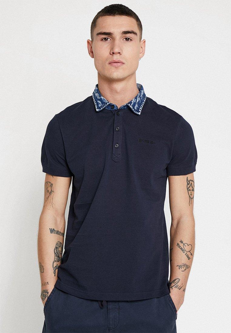Diesel - T-MILES-BROKEN SHIRT - Poloshirt - dark blue