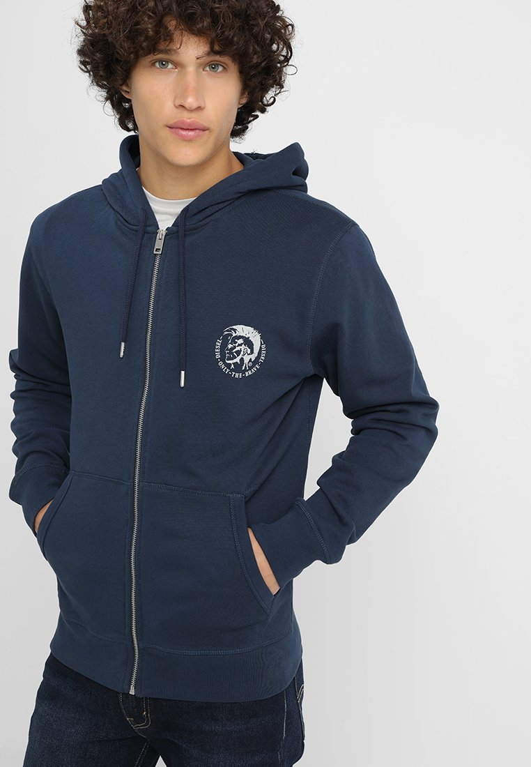 Diesel - UMLT-BRANDON-Z SWEAT-SHIRT - Zip-up hoodie - blau