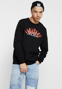 Diesel - S-GIR-A1 SWEAT-SHIRT - Mikina - black - 0