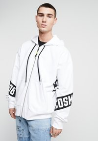 Diesel - S-ALBY-ZIP-A1 SWEAT-SHIRT - veste en sweat zippée - white - 0