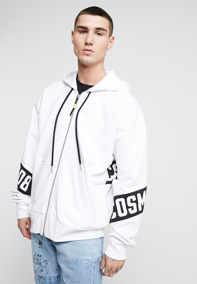 Diesel - S-ALBY-ZIP-A1 SWEAT-SHIRT - veste en sweat zippée - white