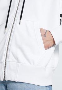 Diesel - S-ALBY-ZIP-A1 SWEAT-SHIRT - veste en sweat zippée - white - 5