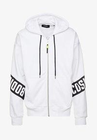 Diesel - S-ALBY-ZIP-A1 SWEAT-SHIRT - veste en sweat zippée - white - 4
