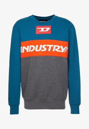 WILLY  - Mikina - petrol/ red/ grey