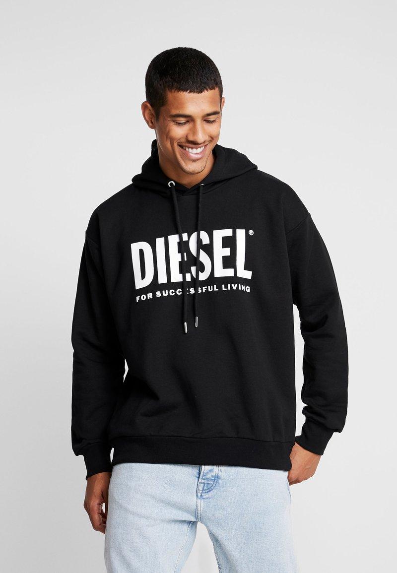 Diesel - S-DIVISION-LOGO - Mikina skapucí - black