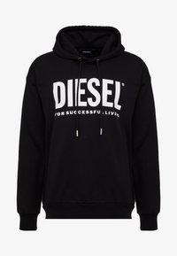 Diesel - S-DIVISION-LOGO - Mikina skapucí - black - 4