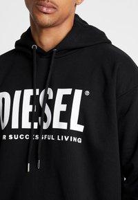 Diesel - S-DIVISION-LOGO - Mikina skapucí - black - 5