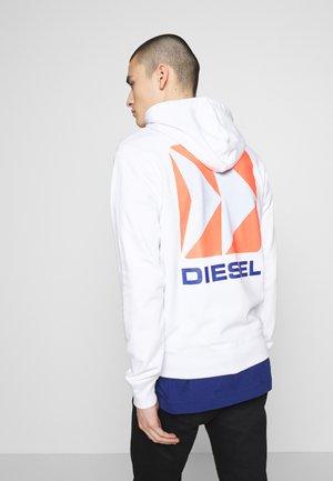 BRANDON - Zip-up hoodie - white