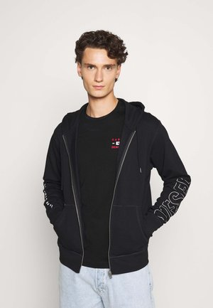 BRANDON - Mikina na zip - black