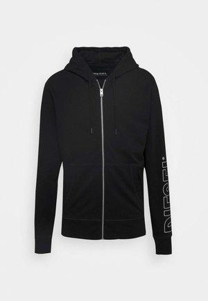 BRANDON - Zip-up hoodie - black