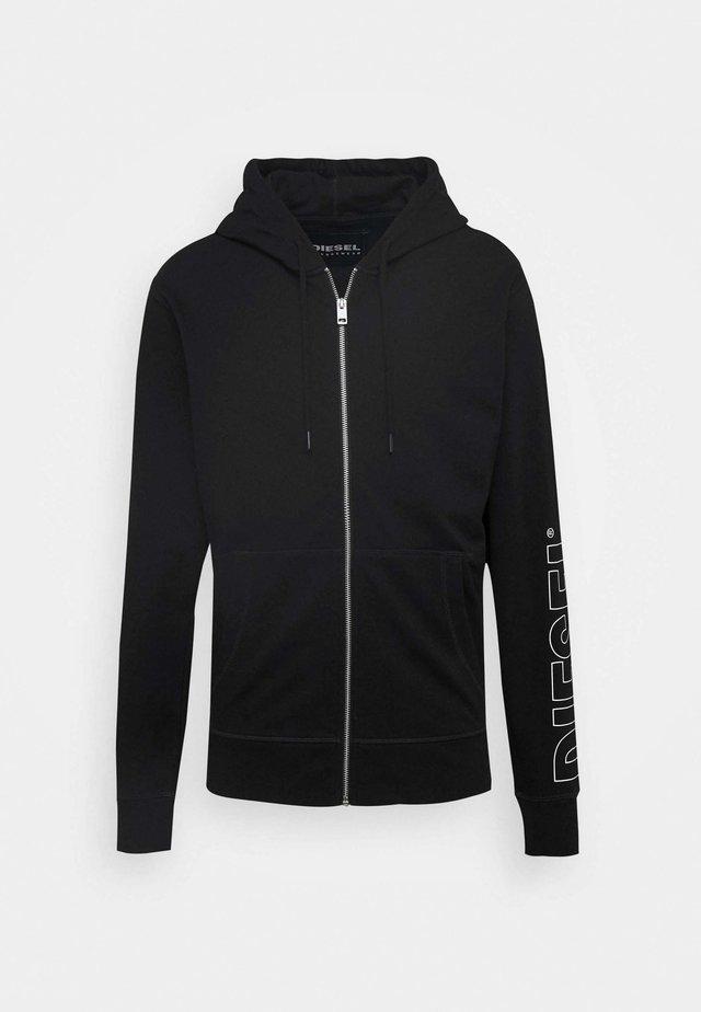 BRANDON - veste en sweat zippée - black