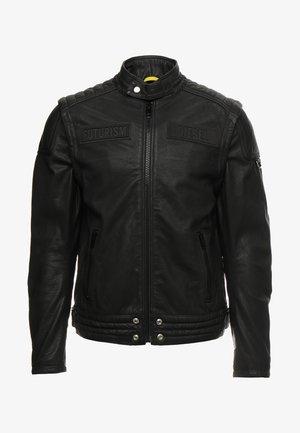 L-YUJA JACKET - Leren jas - black