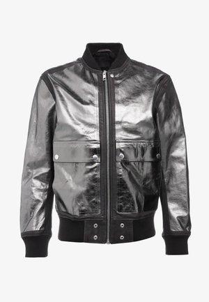 STEWARD FOIL JACKET - Leren jas - black