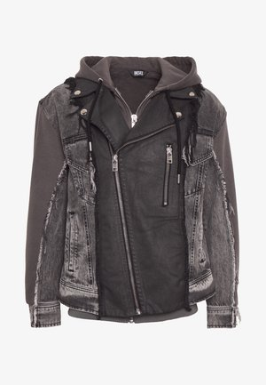 LOSTY 2IN1 - Denim jacket - black/ grey