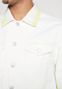 Diesel - NHILL JACKET - Veste en jean - white/yellow - 5