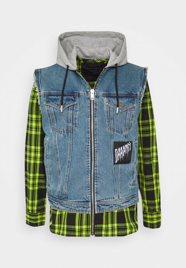 J-RUBEN JACKET - Denim jacket - indigo/green