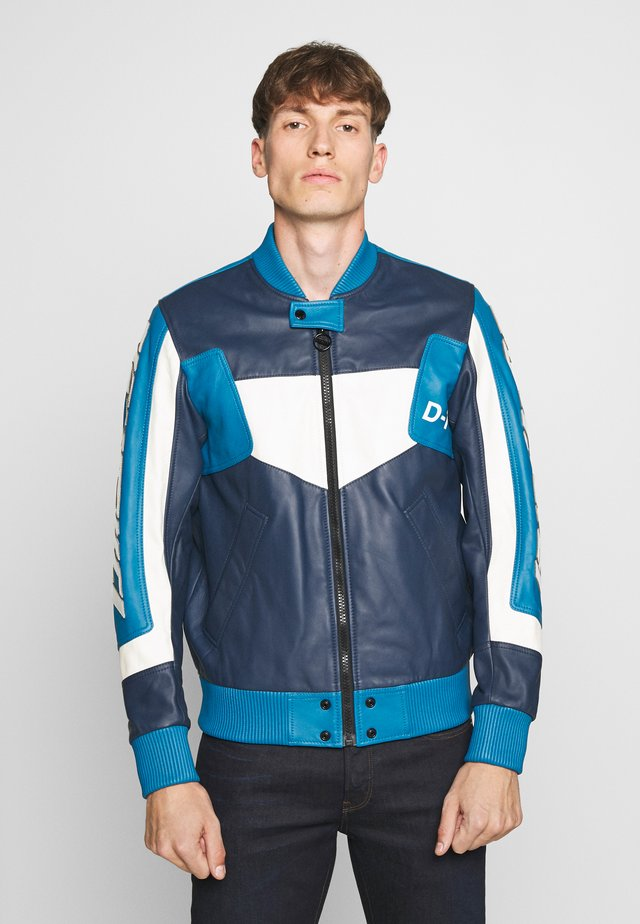 L-MAY JACKET - Leather jacket - blue