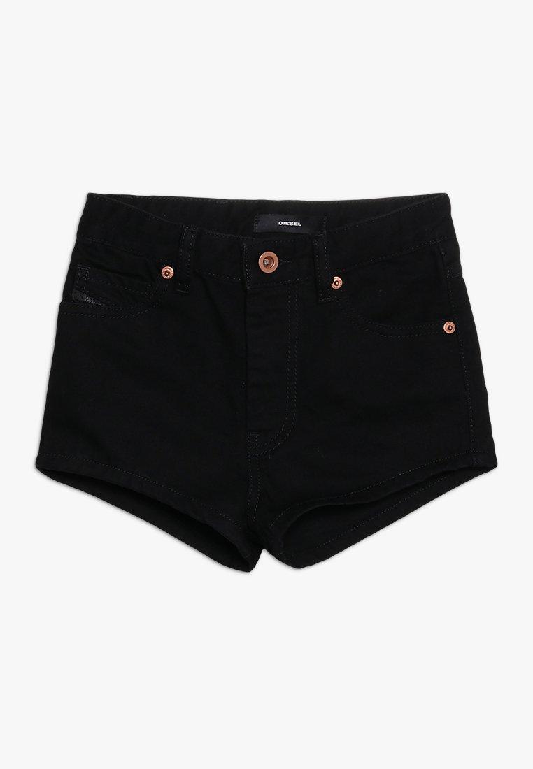 Diesel - PGINGHER CALZONCINI - Szorty jeansowe - denim nero