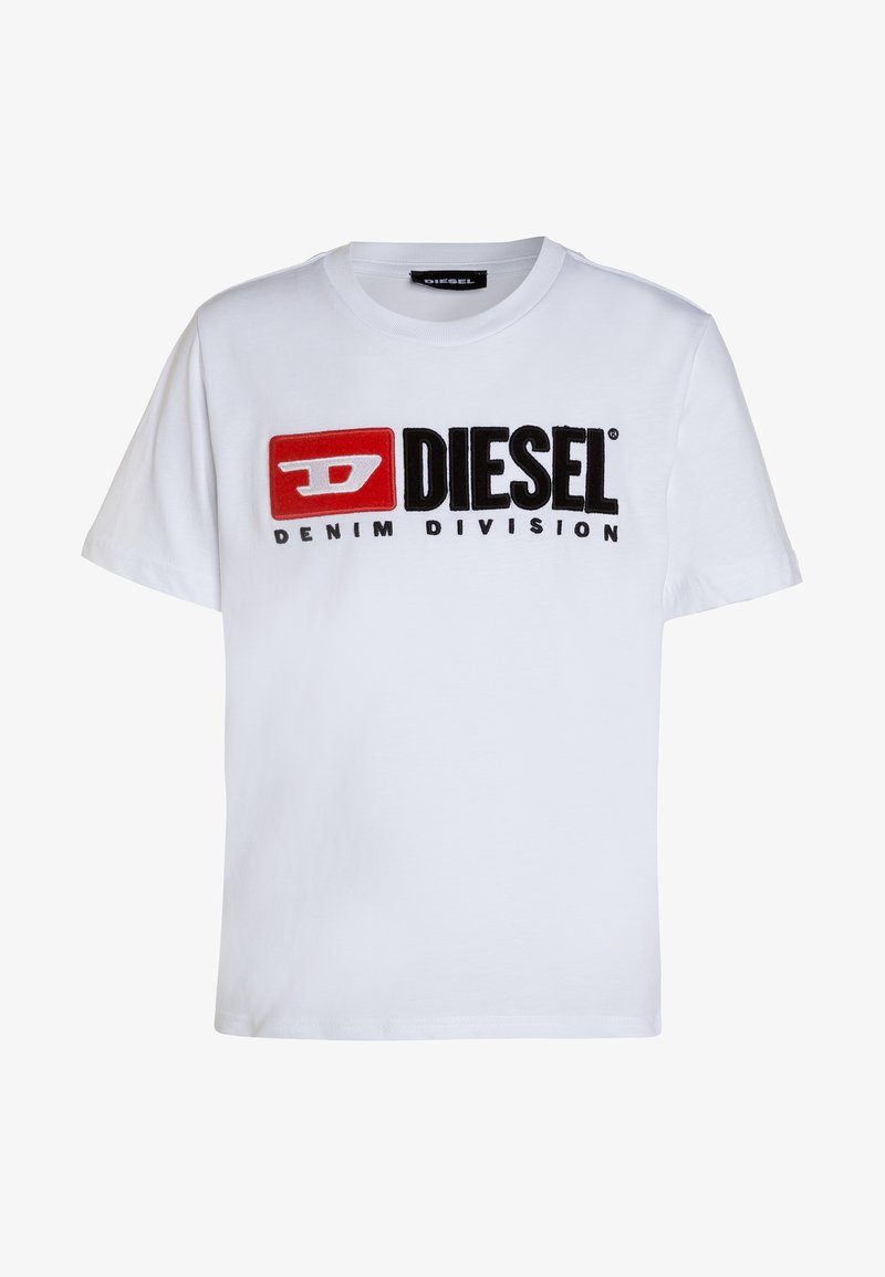 Diesel - TJUSTDIVISION MAGLIE - T-shirt con stampa - white