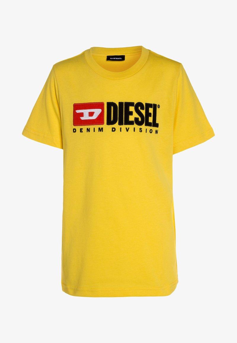 Diesel - TJUSTDIVISION MAGLIE - T-shirt z nadrukiem - yellow