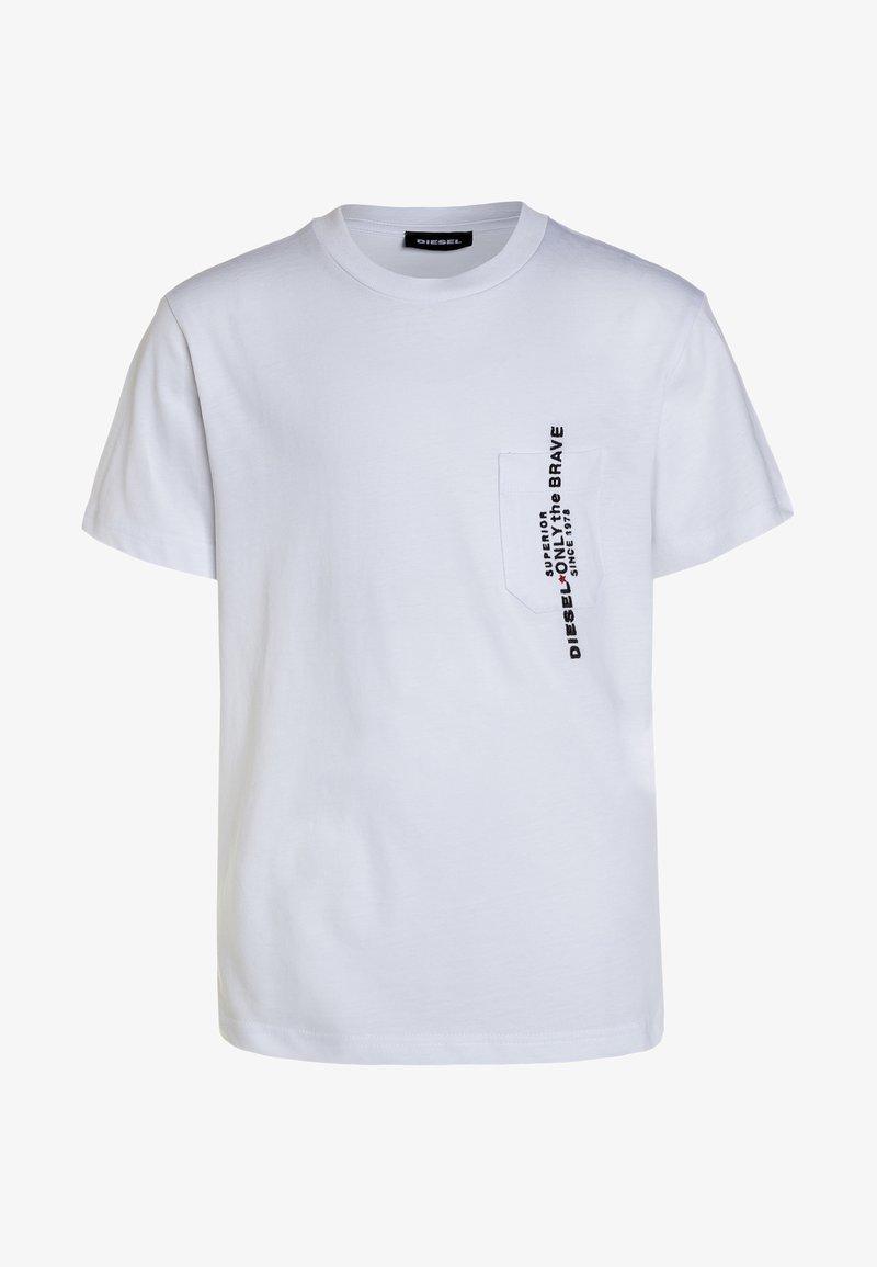 Diesel - TJUSTPOCK MAGLIETTA - T-shirt z nadrukiem - white