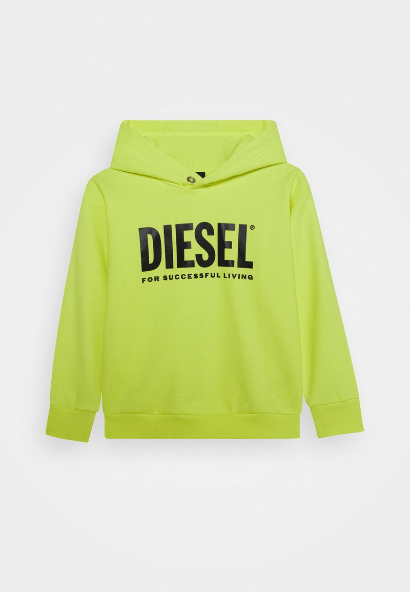 Diesel - SDIVISION-LOGO OVER - Hoodie - super bright yellow