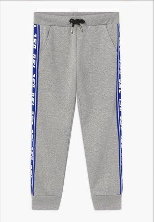 Tracksuit bottoms - grey melange base contrast blue