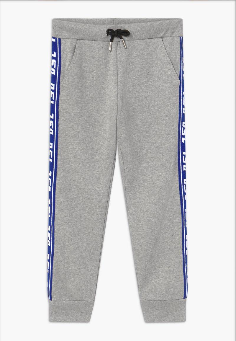 Diesel - Teplákové kalhoty - grey melange base contrast blue