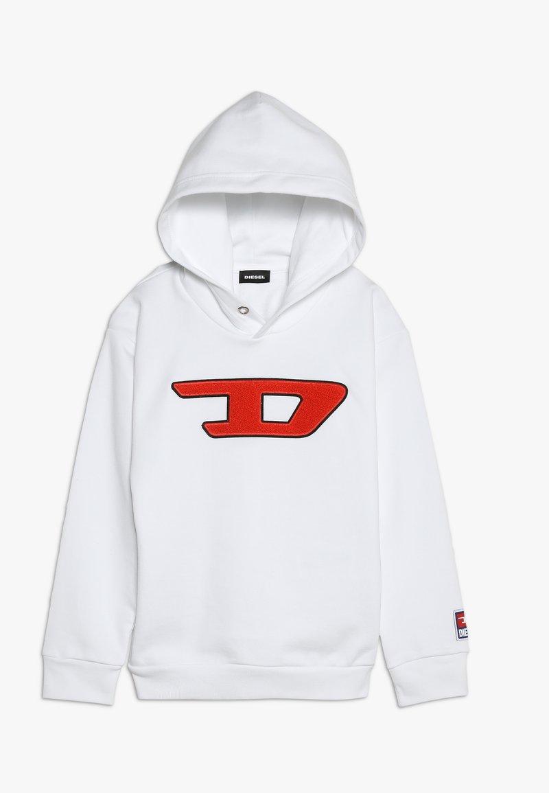 Diesel - SDIVISION-D OVER FELPA - Bluza z kapturem - bianco