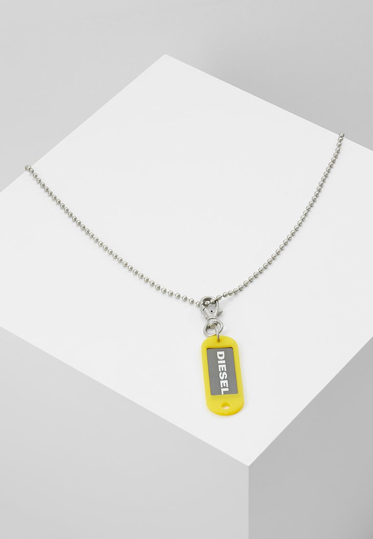 Diesel - BRENZONE - Collier - silver-coloured/yellow