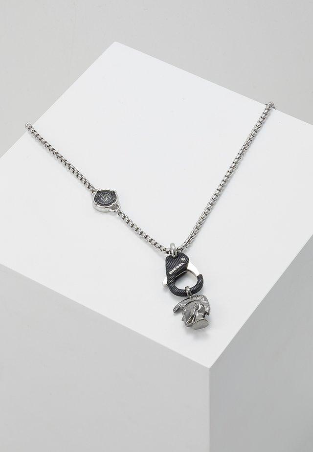 SINGLE PENDANT - Necklace - black/silver-coloured