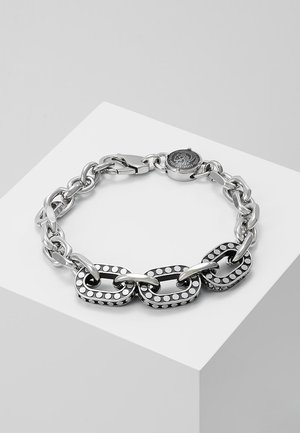 STEEL - Armband - black/silver-coloured