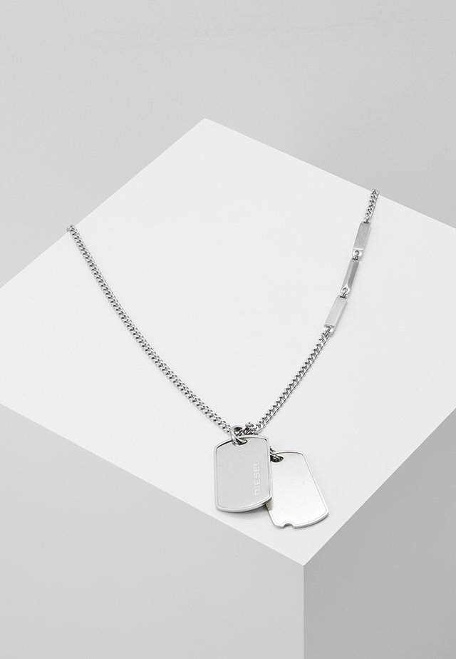 DOUBLE DOGTAGS - Necklace - silver-coloured
