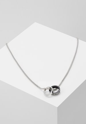 DOUBLE PENDANT - Ketting - black/silver-coloured