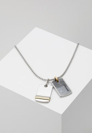DOUBLE DOGTAGS - Collier - silver-coloured