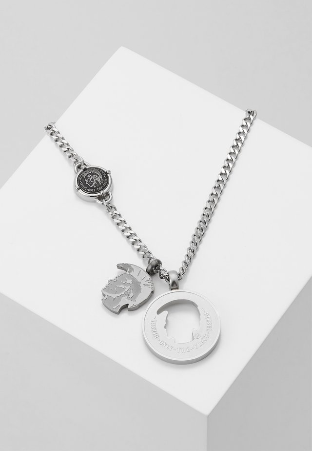 DOUBLE PENDANT - Halsband - silver-coloured