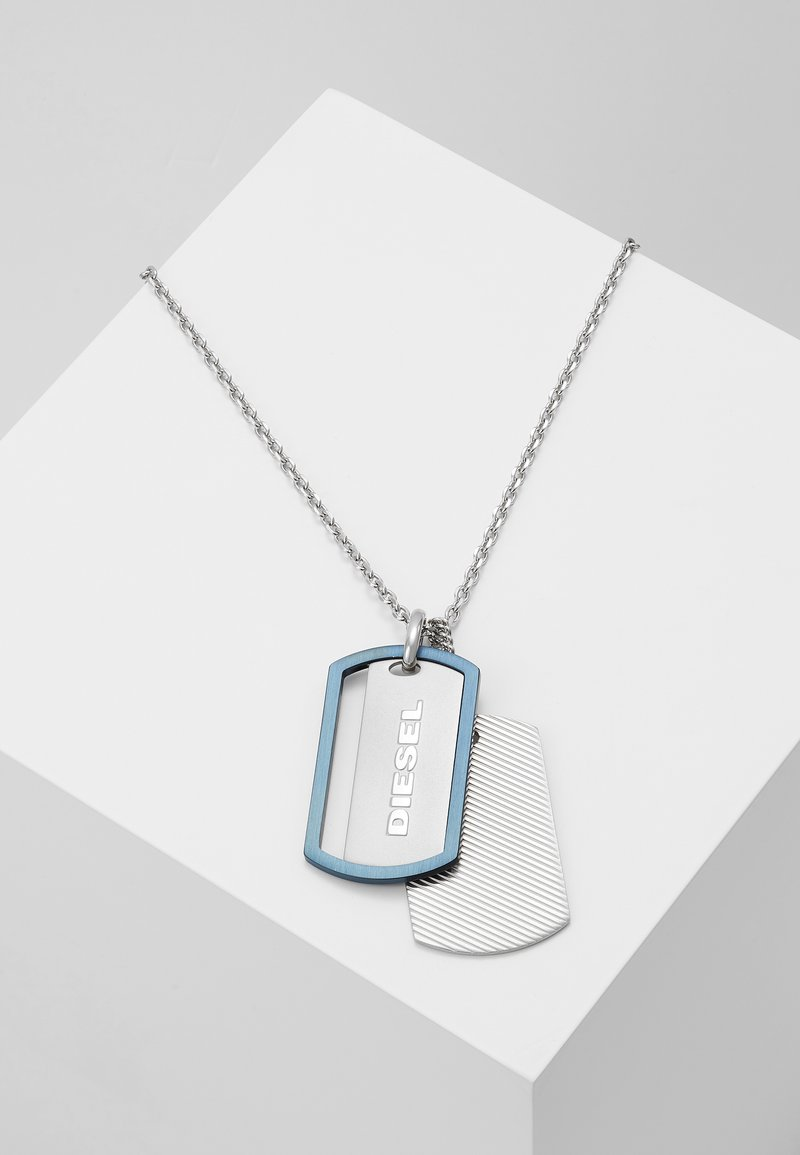 Diesel - DOUBLE DOGTAGS - Halsband - silver-coloured
