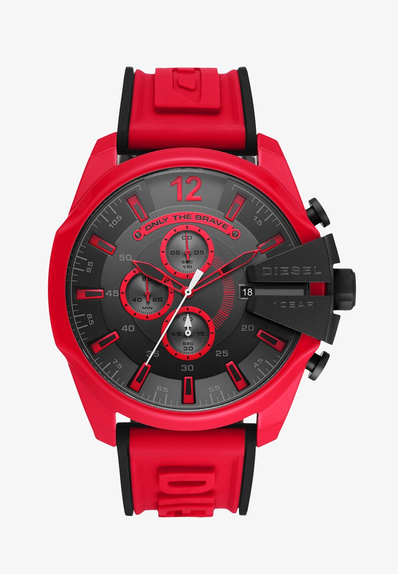 Diesel - MEGA CHIEF - Montre à aiguilles - red/black
