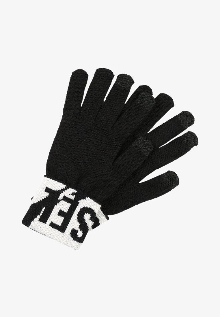 Diesel - K-SCREEX GLOVE - Gloves - schwarz/weiss