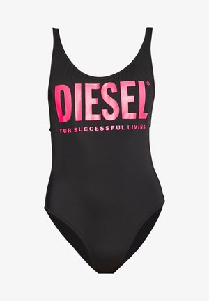 LIA SWIMSUIT - Swimsuit - black/pink