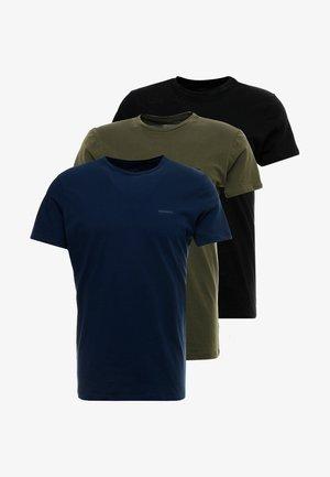 UMTEE-JAKE 3 PACK - Haut de pyjama - schwarz/blau/grün