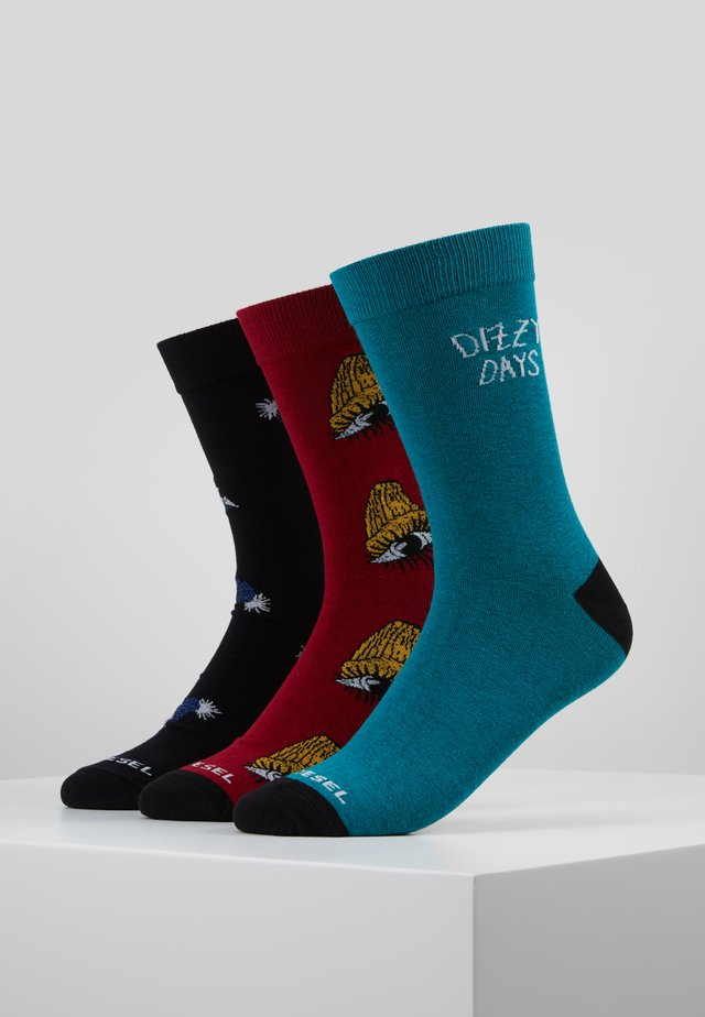 SKM-HERMINE-THREEPACK SOCKS 3PACK - Socks - black/red