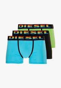 Diesel - DAMIEN BOXER 3 PACK - Culotte - black/light green/light blue - 3