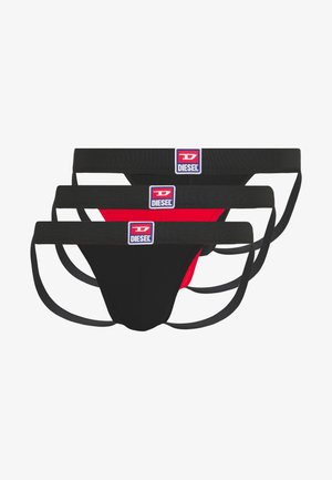 JOCKSTRAP 3 PACK - Alushousut - red/black/black