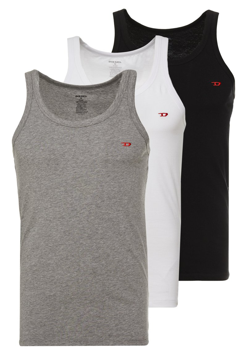 Diesel - UMTK-JOHNNYTHREEPACK SINGLET 3 PACK - Unterhemd/-shirt - grey/black/white
