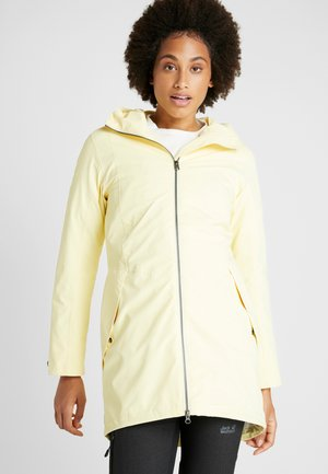 FOLKA WOMEN'S - Waterproof jacket - light yellow